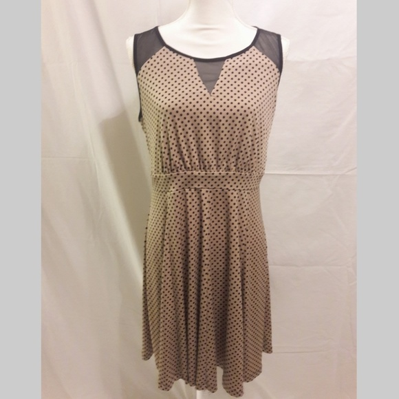 Enfocus Studio Dresses & Skirts - Enfocus Polka Dot Fit & Flare Dress